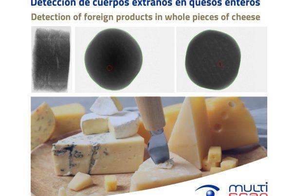 Detección de cuerpos extraños en quesos enteros