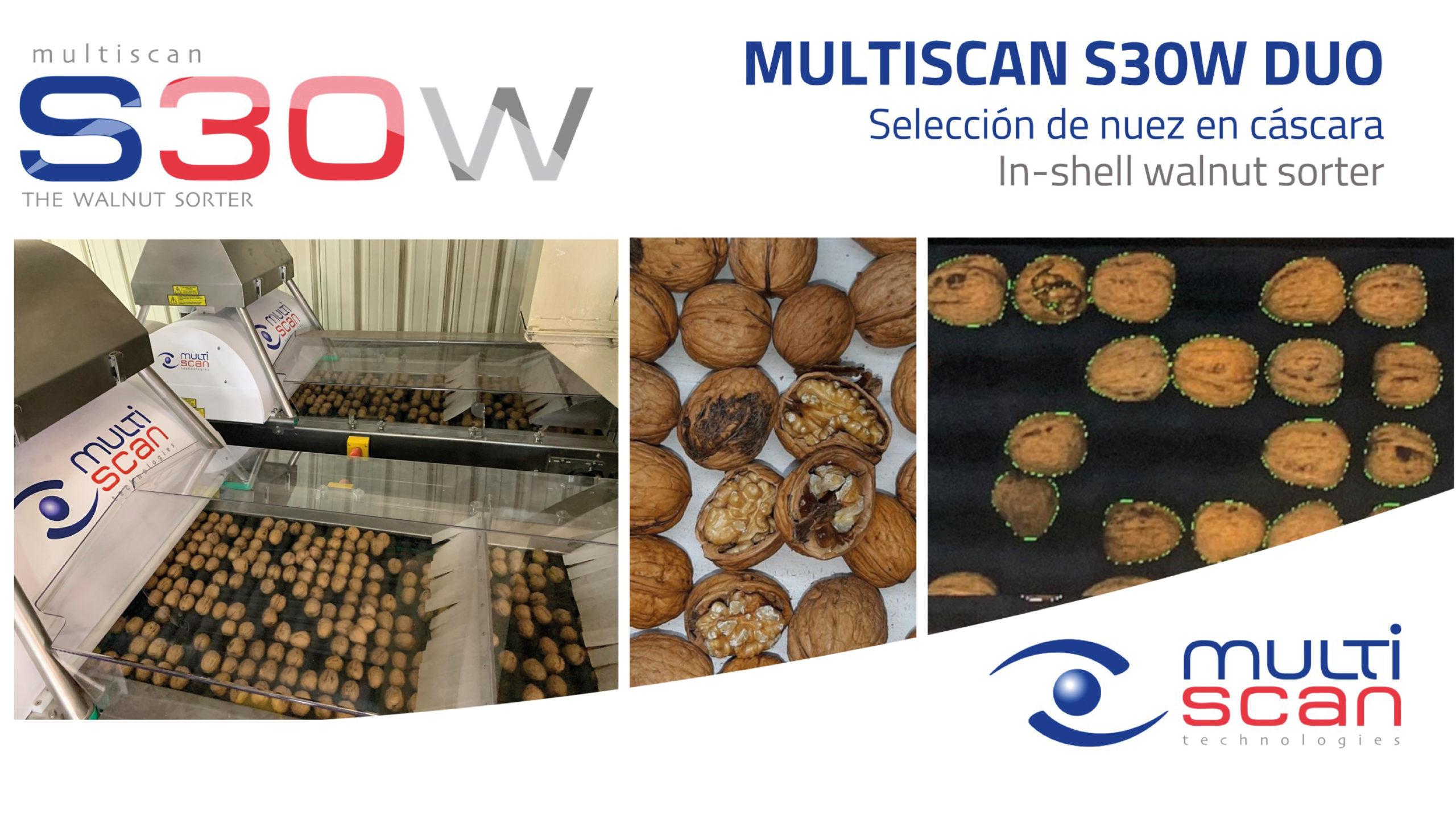 Multiscan S30W DUO, selección de nuez en cáscara
