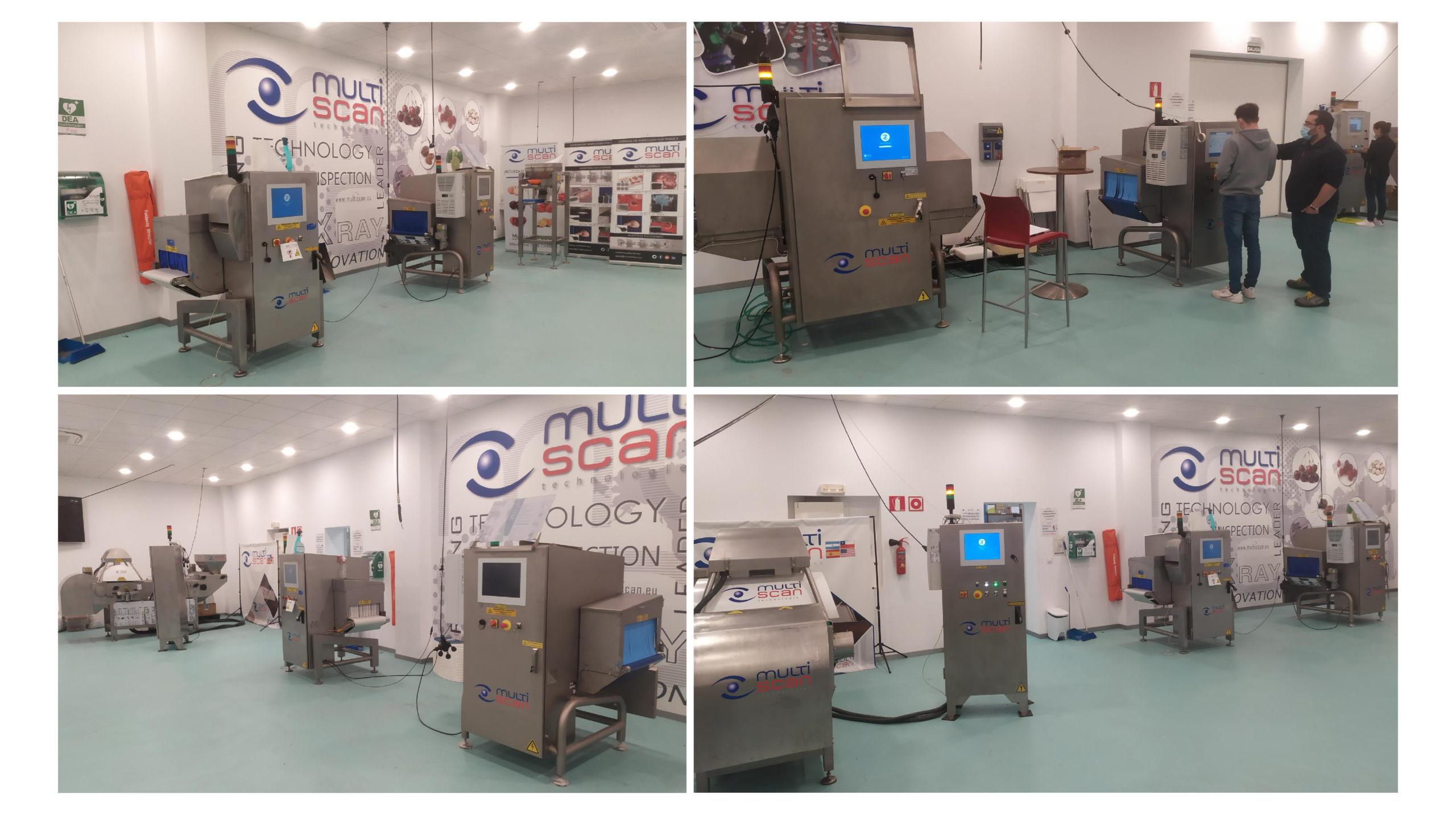 Multiscan showroom for testing