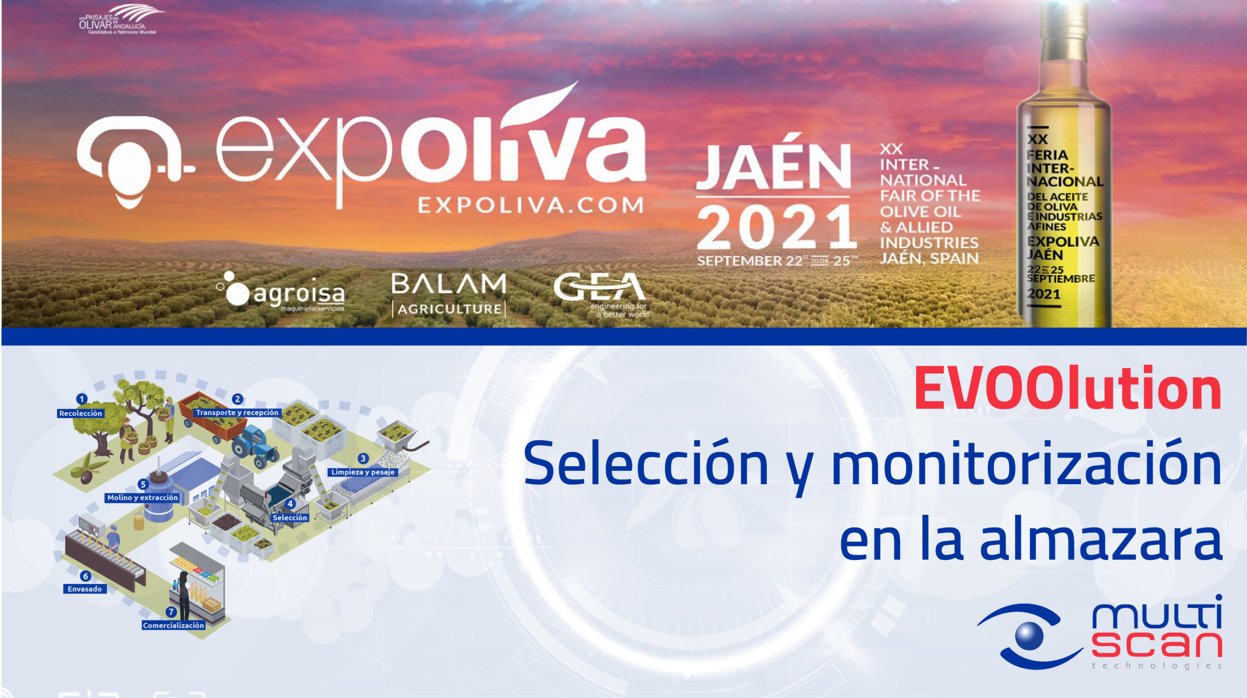 Multiscan asiste con EVOOlution a EXPOLIVA 2021
