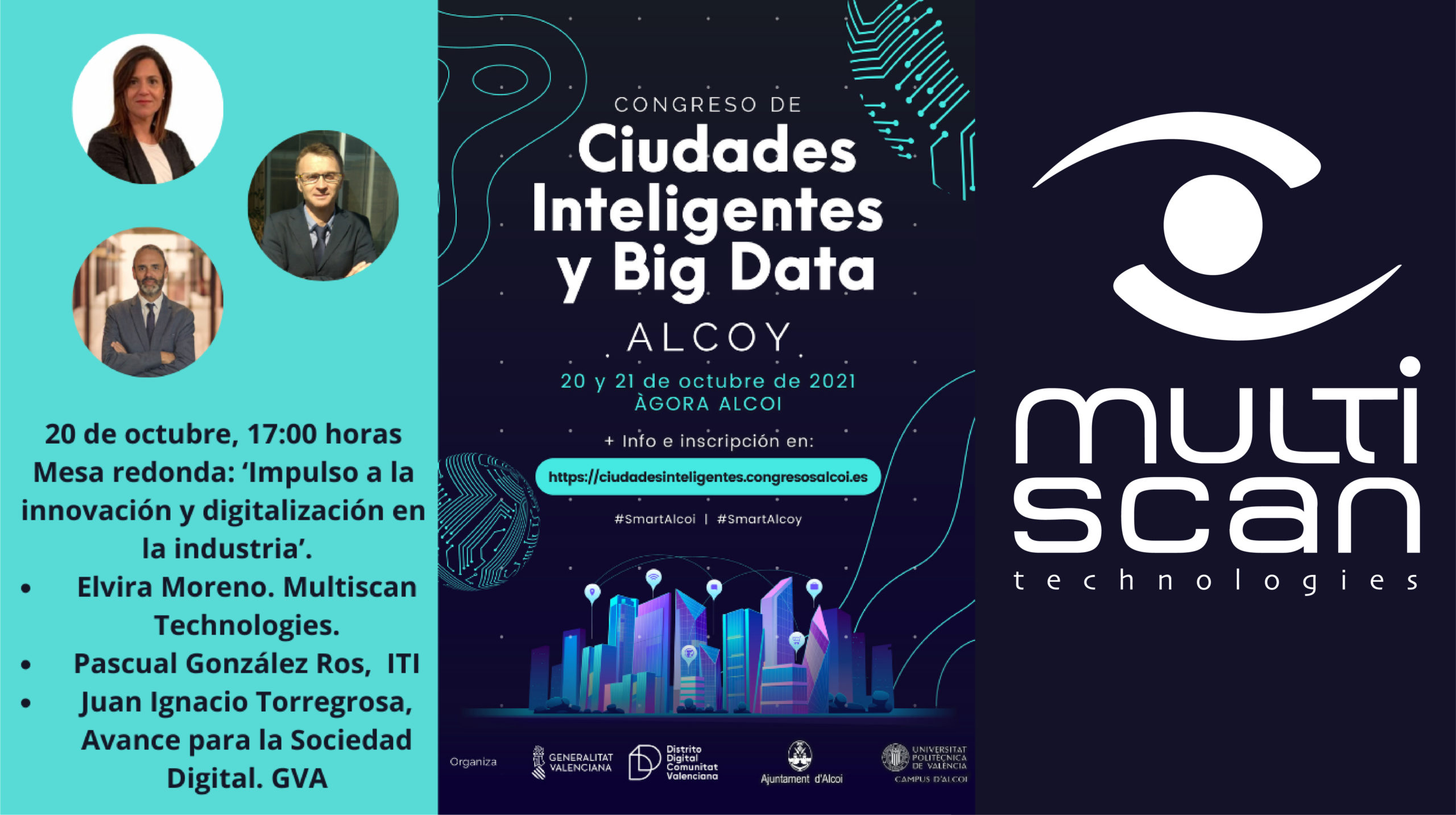 Multiscan participa en el Congreso Ciudades Inteligentes y Big Data